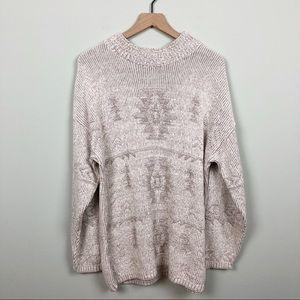 Vintage David Brett Light Gray Mockneck Sweater